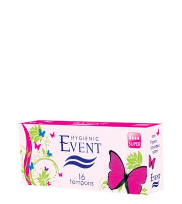 event tampons super 16 pieces