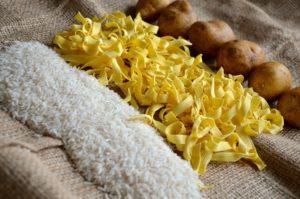 pasta rice and potato